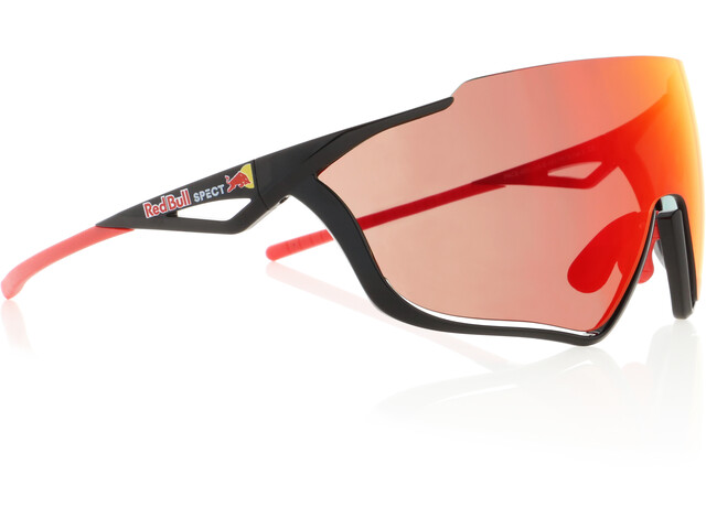 Red Bull SPECT Pace Occhiali da sole, glossy black/smoke-red